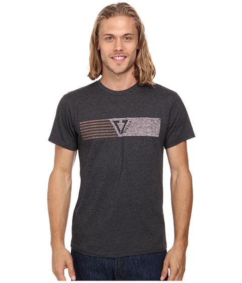 VISSLA - Flag Short Sleeve Tee (Black Heather) Men