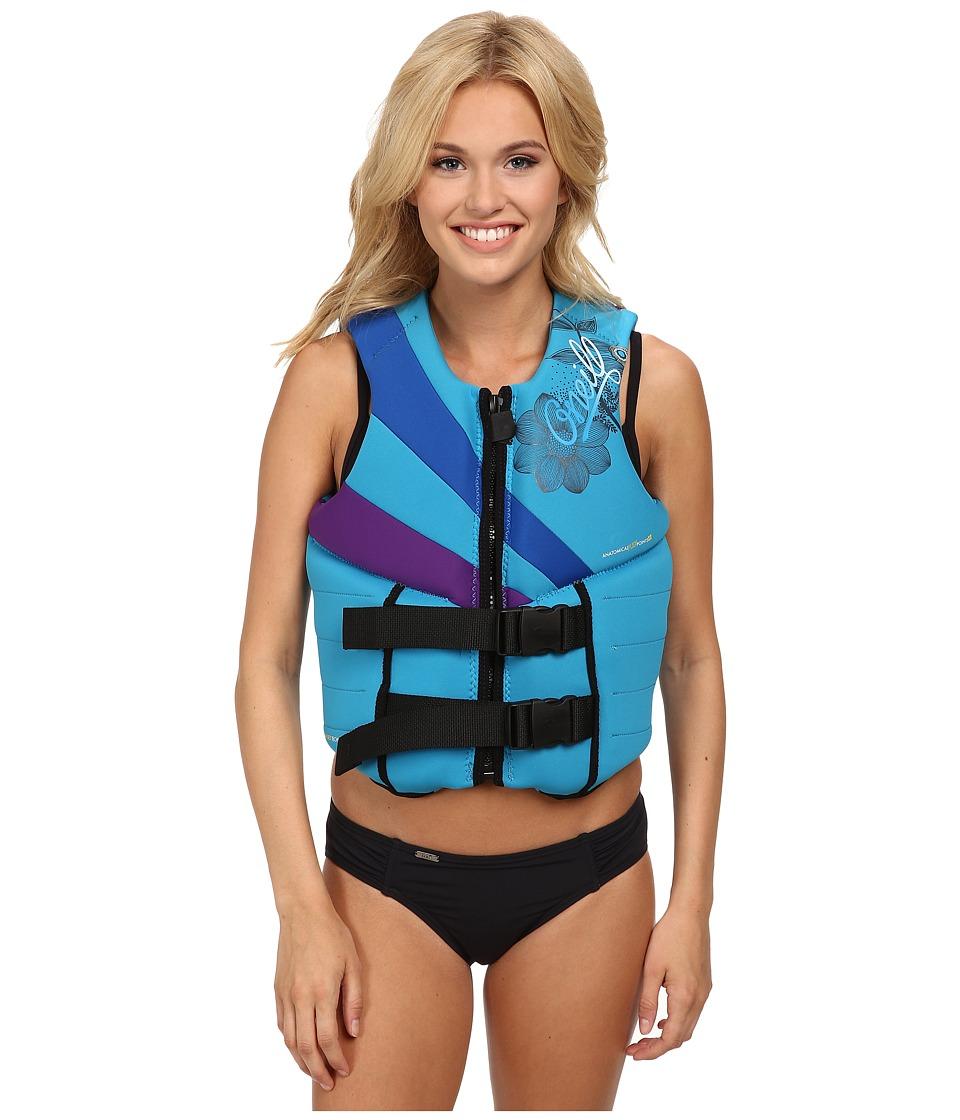 O'Neill - Siren L/S USCG Vest (Turquoise/Pac/Uv) Women's Swimwear
