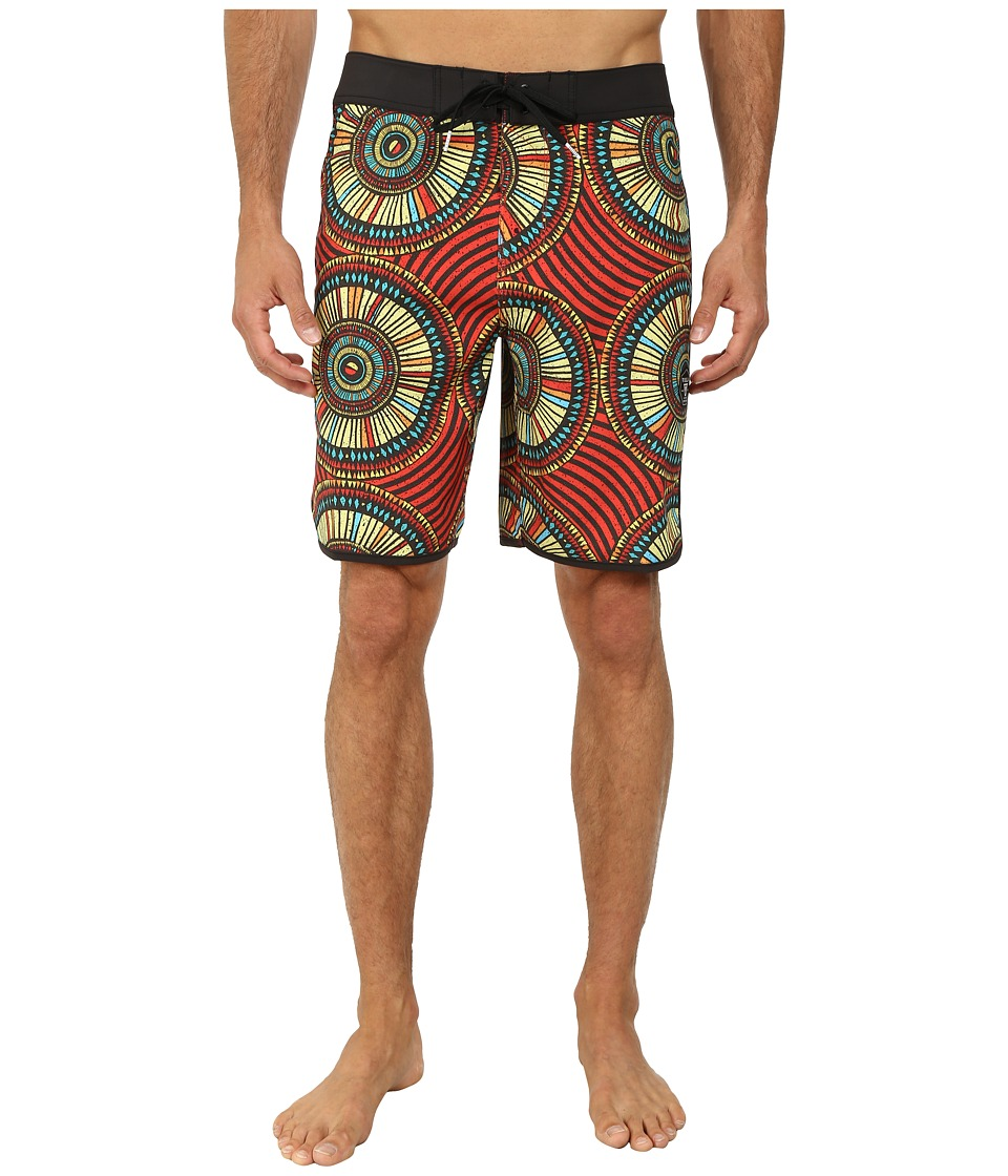 VISSLA - Skeleton Coast (Red) Men's Swimwear