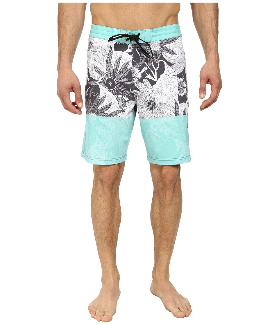 VISSLA - Sea Garden Boardshorts (Black) Men's Swimwear