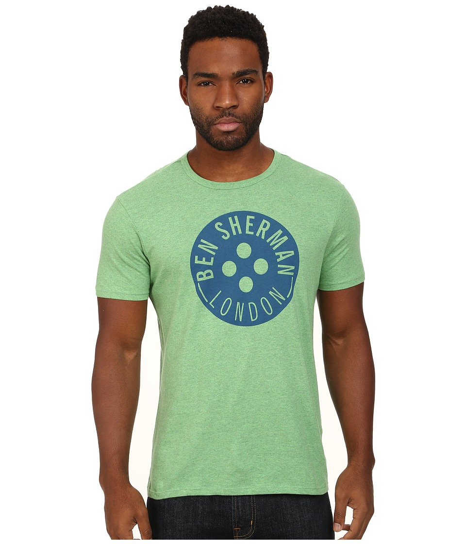 Ben Sherman - Button Tee (Bright Green) Men's Short Sleeve Pullover