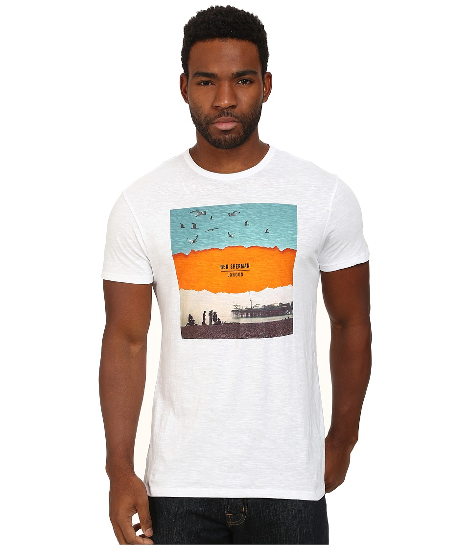 Ben Sherman - Short Sleeve Brighton Print Tee MB11451 (Bright White) Men