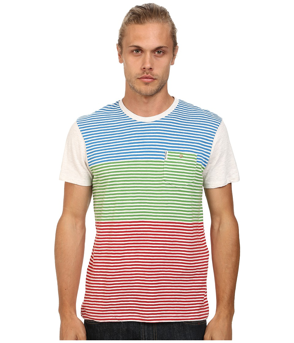 Ben Sherman - Short Sleeve Multi Stripe Tee MB11465A (Letterbox Red) Men