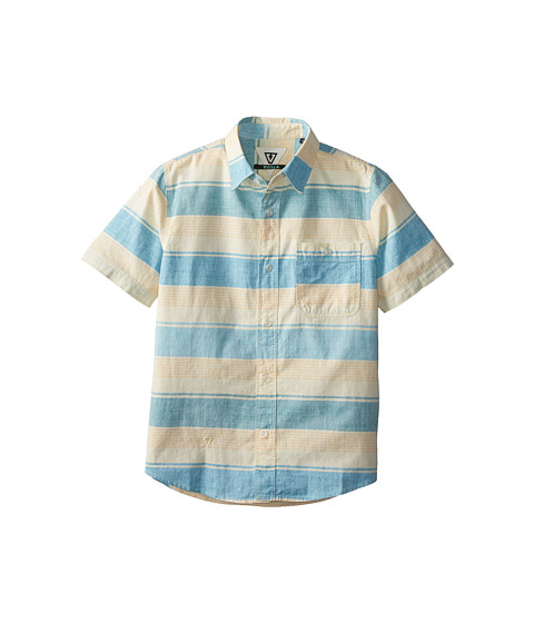 VISSLA Kids - Channels Short Sleeve Woven (Big Kids) (Dusty Yellow) Boy