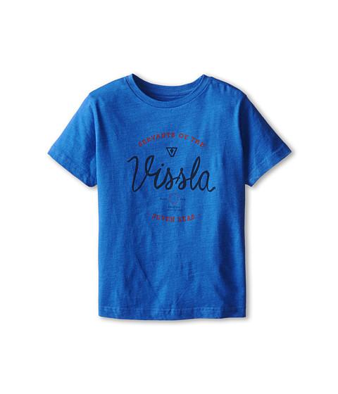 VISSLA Kids - Servants Short Sleeve Tee (Big Kids) (Blue Wash Heather) Boy