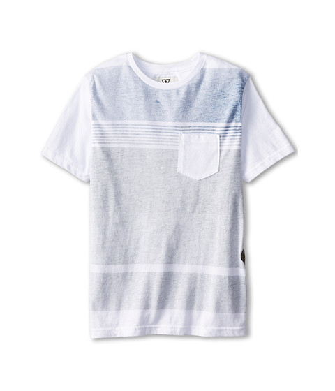 VISSLA Kids - Templates Pocket Tee (Big Kids) (White) Boy