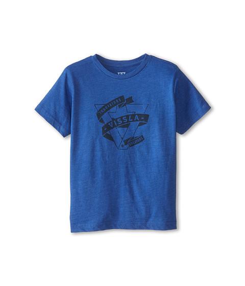 VISSLA Kids - Wrap Short Sleeve Tee (Big Kids) (Blue Wash Heather) Boy