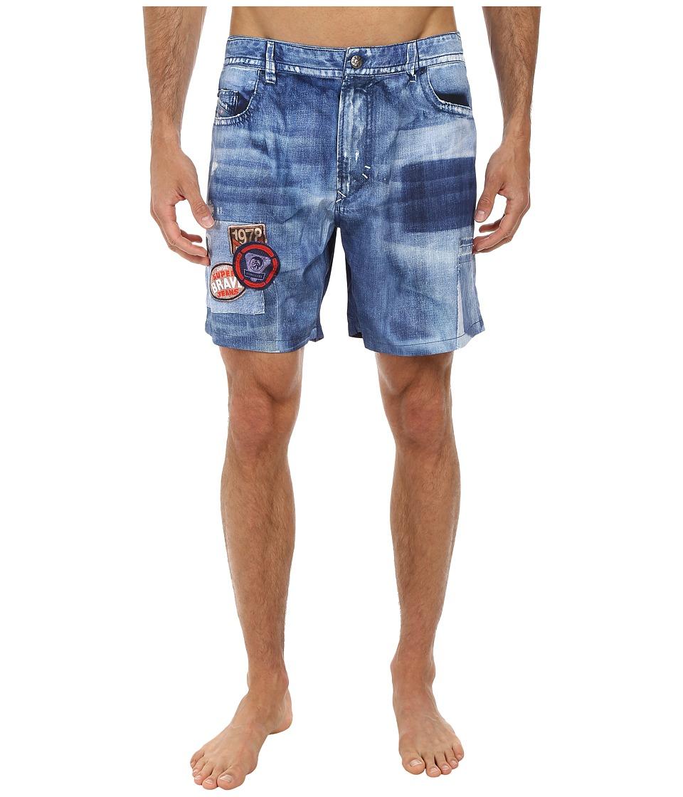Diesel - Red Beach Shorts (Denim Jean) Men's Swimwear