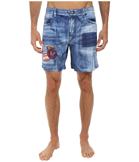 Diesel - Red Beach Shorts (Denim Jean) Men's Swimwear
