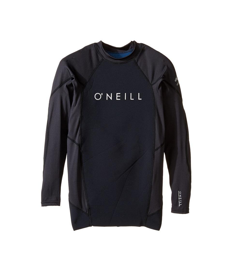 O'Neill - Hyperfreak Neo/Lycra Long Sleeve Crew (Black/Black/Black) Men's Swimwear