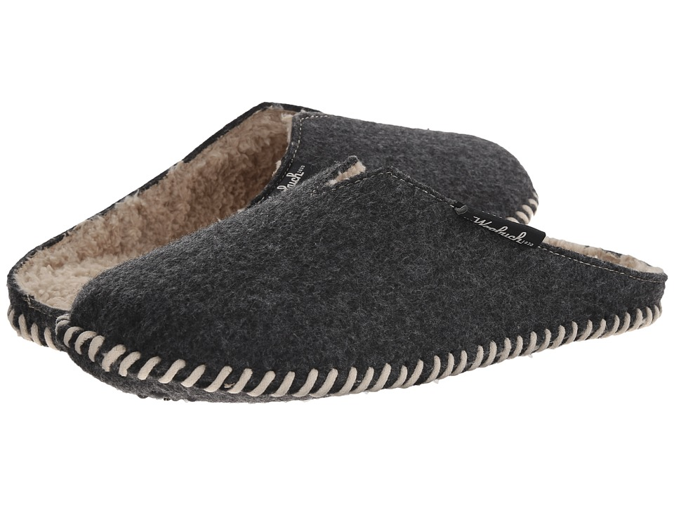 Woolrich - Felt Mill Scuff (Black) Men's Slippers