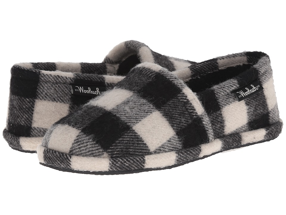 Woolrich - Chatham Chill (Black/White Buffalo Check Wool) Men's Slippers