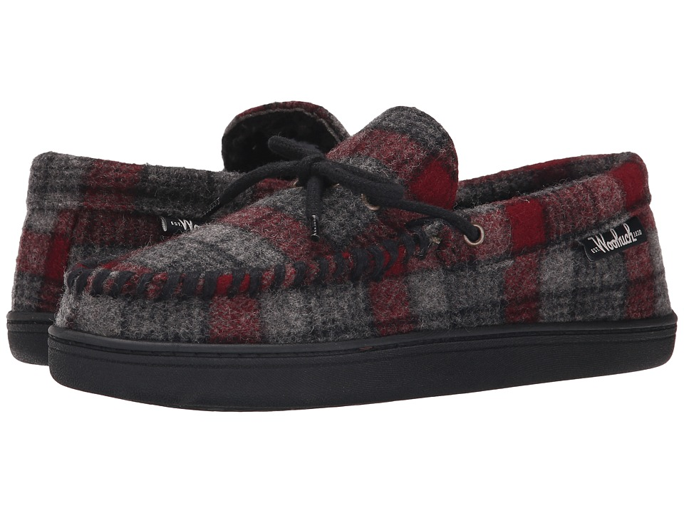 Woolrich - Potter County Wool (Gray/Red Plaid Wool) Men