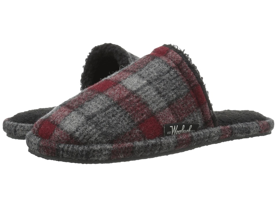 Woolrich - Chatham Slide (Gray/Red Plaid Wool) Men's Slippers