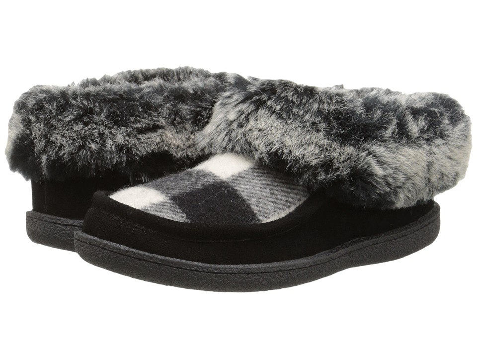 Woolrich - Autumn Ridge (Black/White Buffalo Check Wool) Women's Slippers