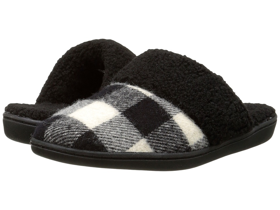 Woolrich - Kettle Creek (Black/White Buffalo Check Wool) Women's Slippers