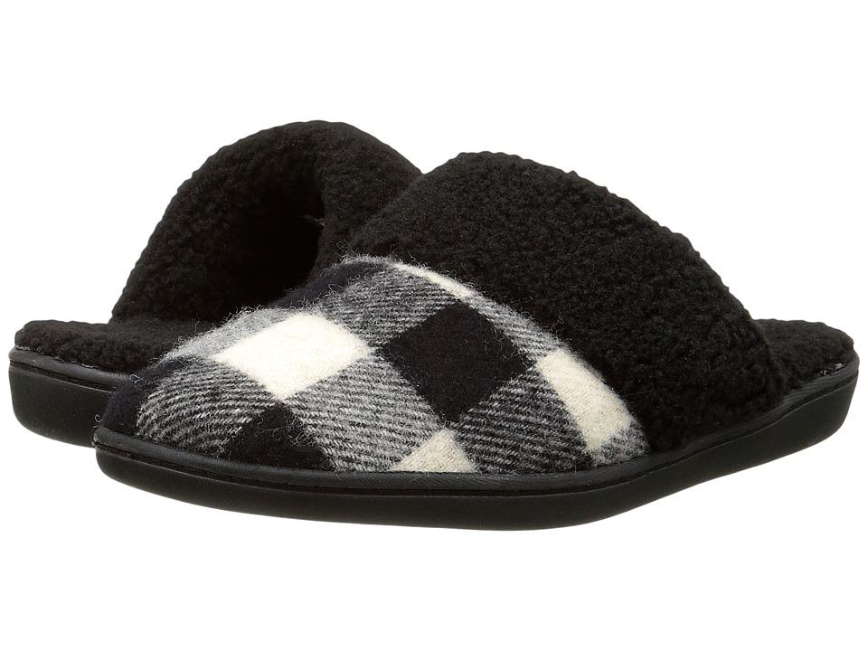Woolrich - Kettle Creek (Black/White Buffalo Check Wool) Women's Slippers