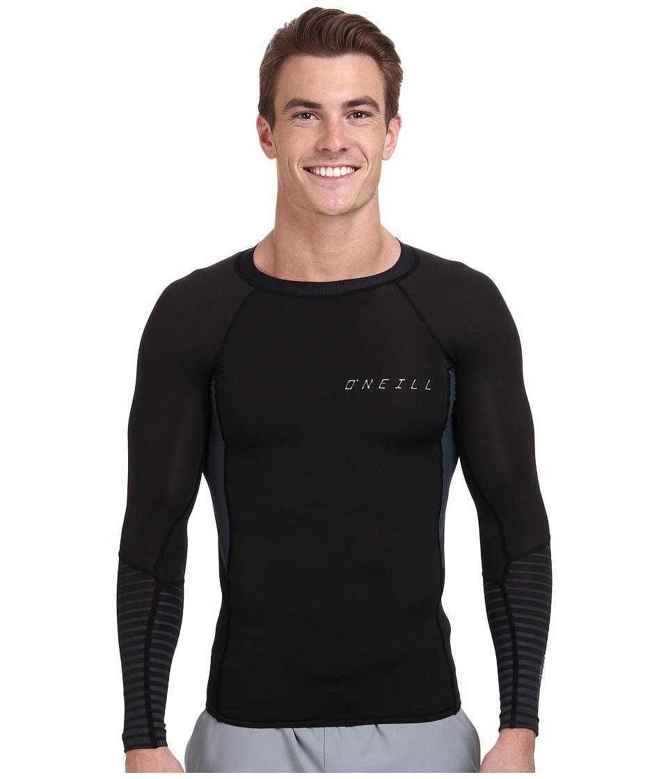 O'Neill - O'Zone Comp Long Sleeve Crew (Black/Graphite/Black) Men's Swimwear