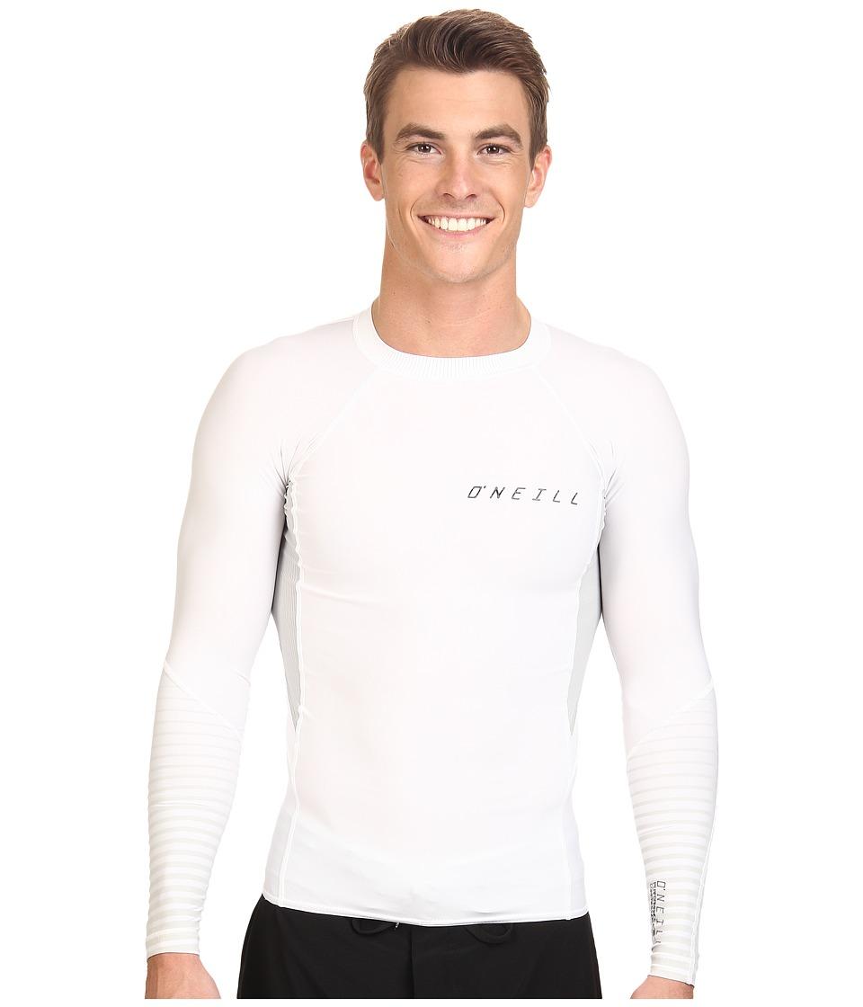 O'Neill - O'Zone Comp Long Sleeve Crew (White/Lunar/White) Men's Swimwear