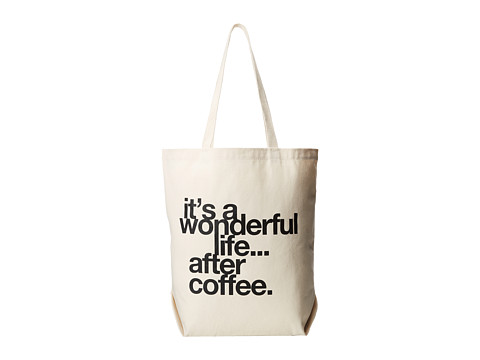Dogeared - It's a Wonderful Life Tote (Canvas/Black) Tote Handbags
