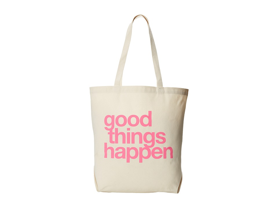Dogeared - Good Things Happen Tote (Canvas/Pink) Tote Handbags