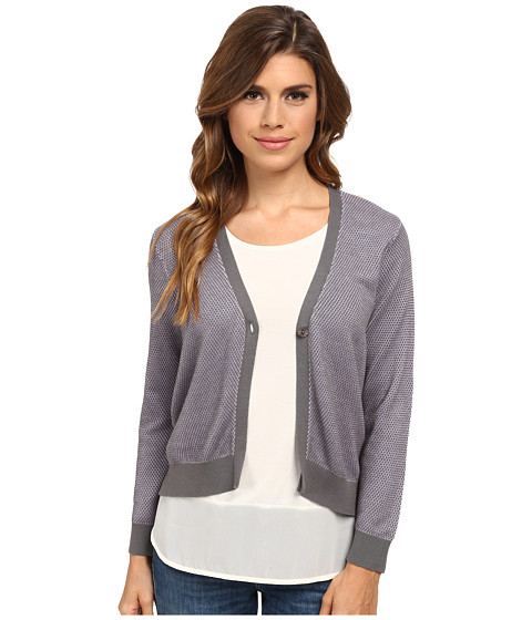 Pendleton - Mia Cardigan (Grey/Viola) Women's Sweater