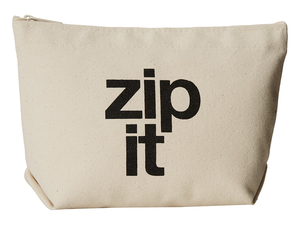 Dogeared - Zip It Lil Zip Bag (Canvas/Black) Cosmetic Case