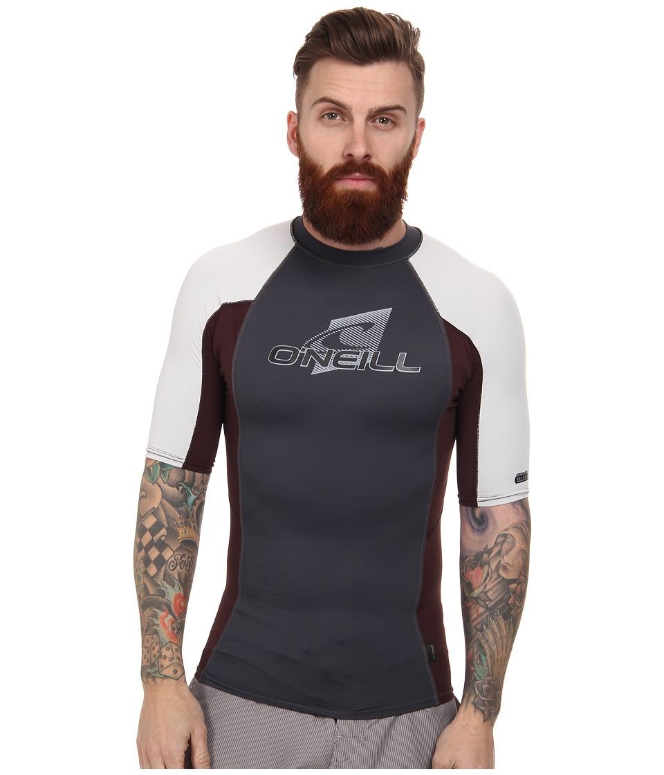 O'Neill - Skins S/S Crew (Graphite/Myers/Lunar) Men's Swimwear