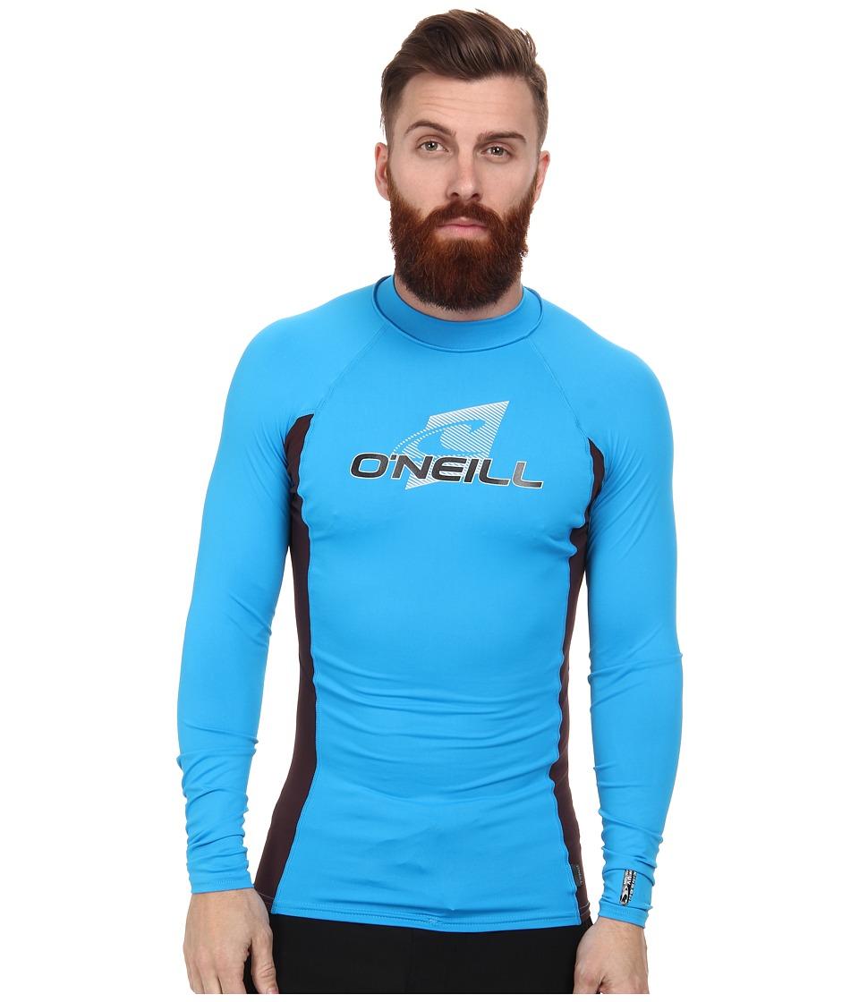 O'Neill - Skins L/S Crew (Sky/Myers/Sky) Men's Swimwear