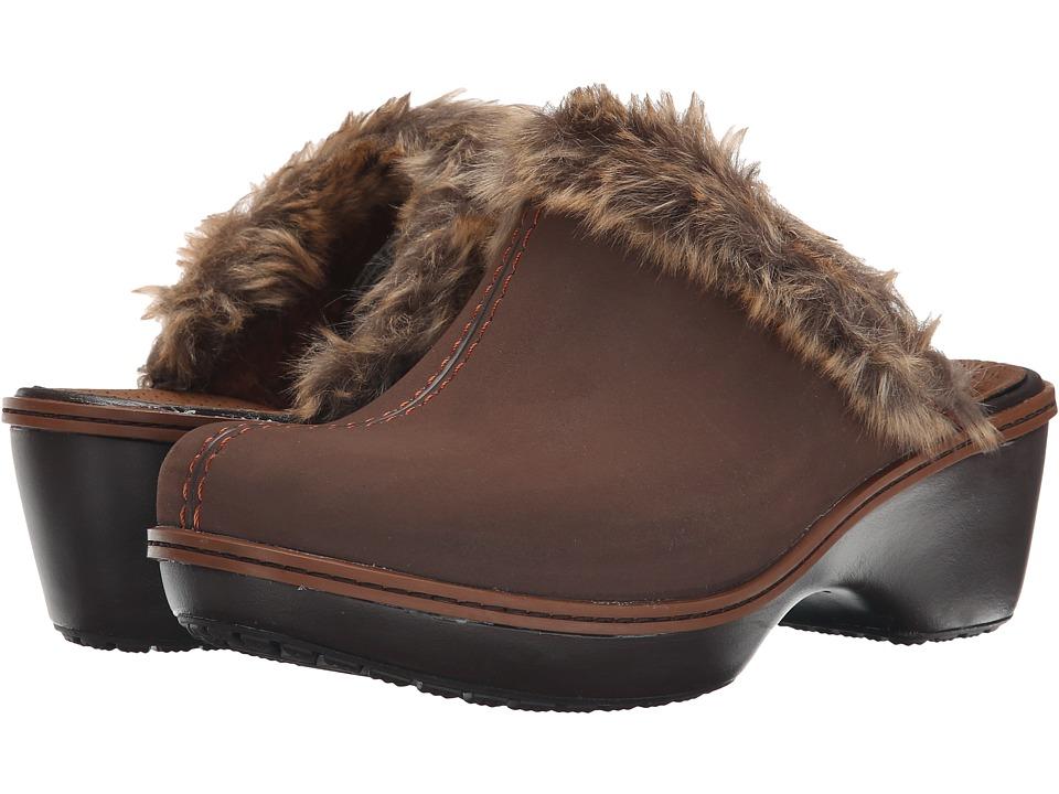 Crocs Cobbler Fuzz Clog (Cinnamon/Mahogany) Women