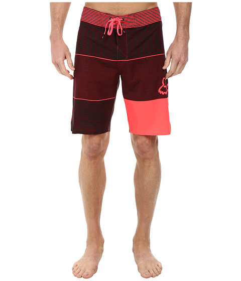 Fox - Horizon Boardshorts (Neon Red) Men's Swimwear