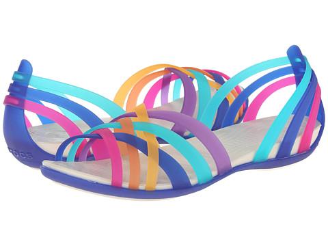 ffda3b27634fc ... UPC 887350343793 product image for Crocs - Huarache Flat  (Multi Cerulean Blue) Women s ...