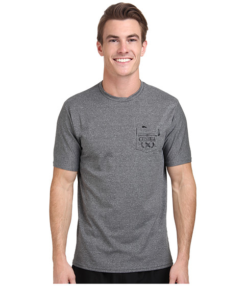 O'Neill - Skins Pocket Surf Tee (Graphite/Graphite) Men's Short Sleeve Pullover