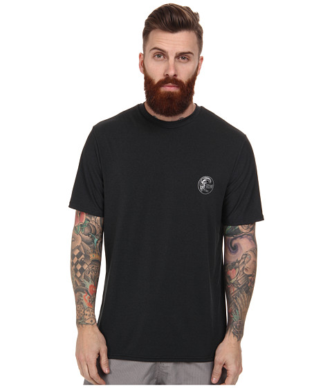 O'Neill - Skins Short Sleeve Surf Tee (Black) Men's Swimwear