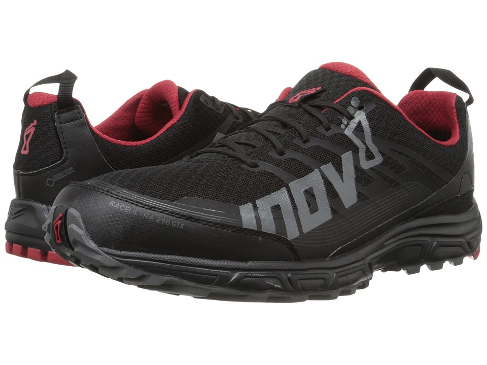 inov-8 - Race Ultra 290 GTX (Black/Grey/Chili) Men's Running Shoes
