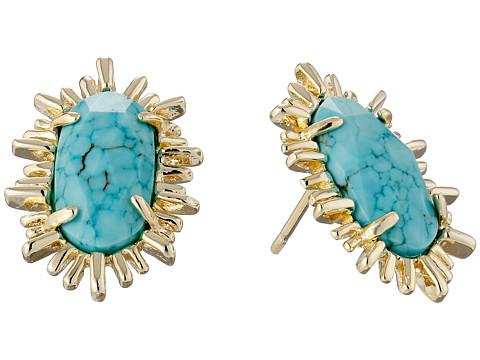 Kendra Scott - Kay Earrings (Gold Turquoise) Earring