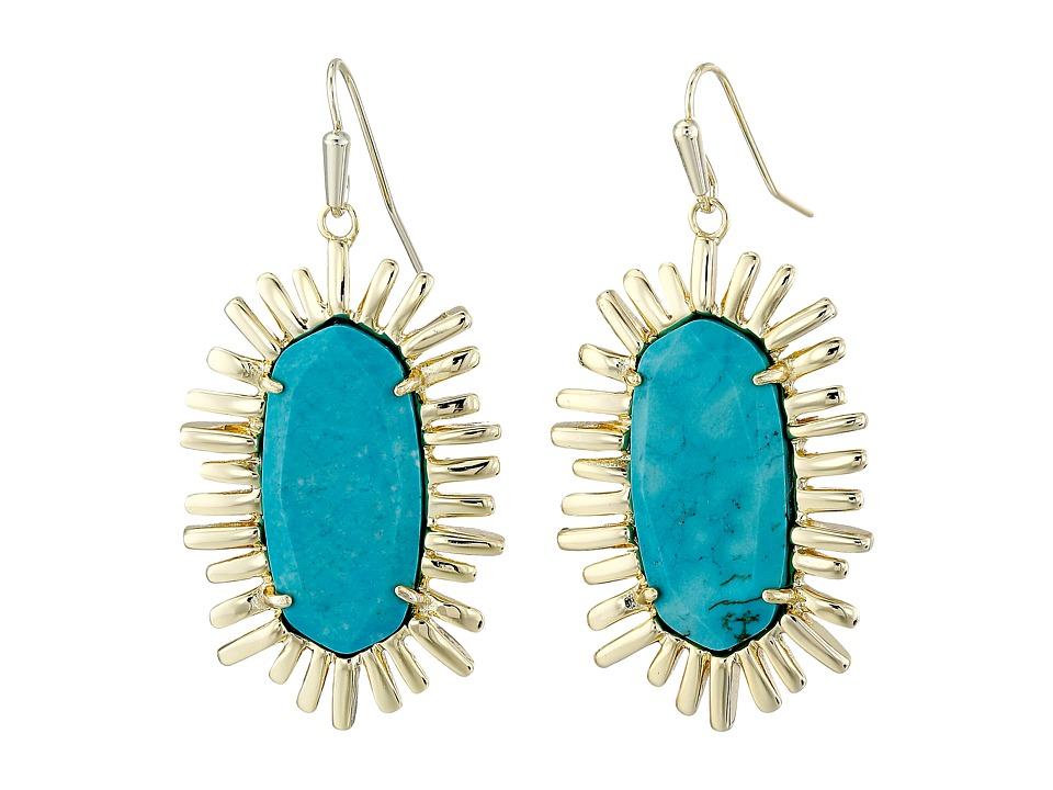 Kendra Scott - Mariah Earrings (Gold Turquoise) Earring