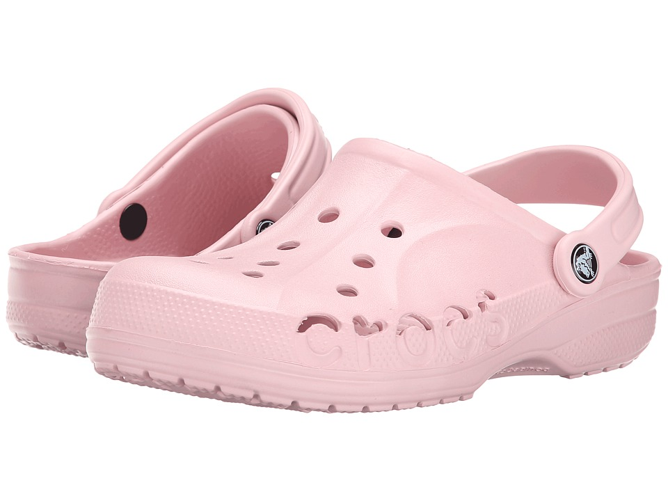 Crocs - Baya (Unisex) (Pearl Pink) Slip on Shoes