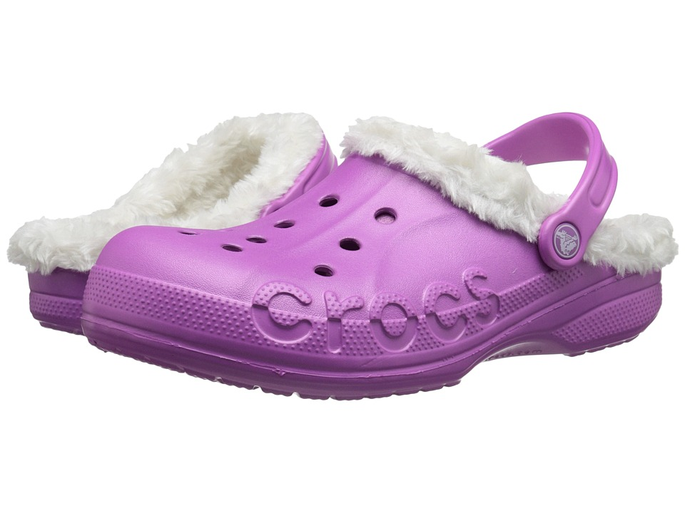 Crocs - Baya Plush Lined Clog (Wild Orchard/Oatmeal) Clog Shoes