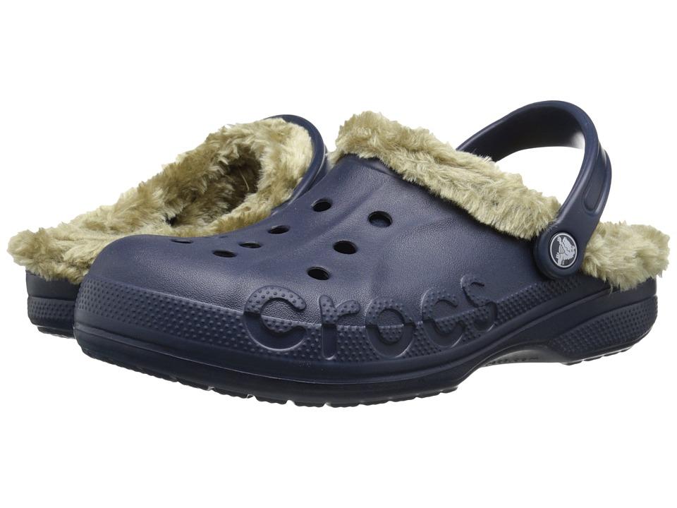 Crocs - Baya Plush Lined Clog (Navy/Khaki) Clog Shoes