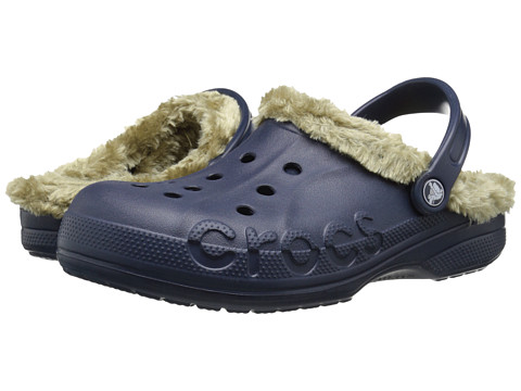 Crocs - Baya Plush Lined Clog (Navy/Khaki) Clog Shoes