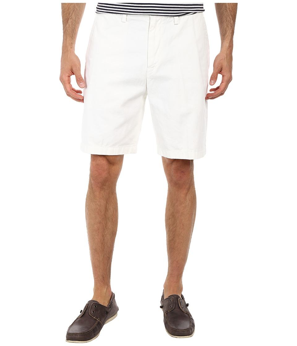 Nautica True Khaki Flat Front Short (Bright White) Men