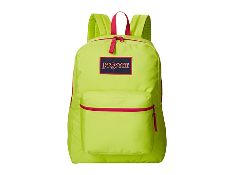 JanSport - Overexposed (Lime Punch/Cyber Pink) Backpack Bags