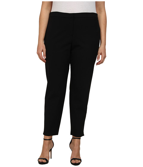 Calvin Klein Plus - Plus Size Trouser Pants (Black) Women's Casual Pants