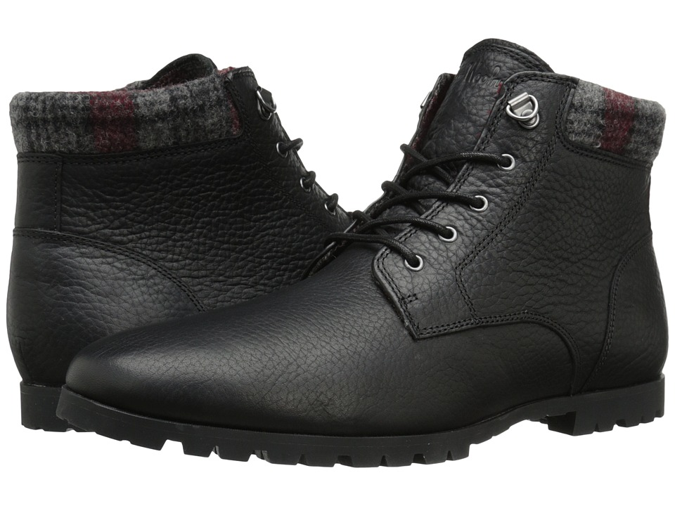 Woolrich Beebe Leather (Black/Plaid Wool) Men