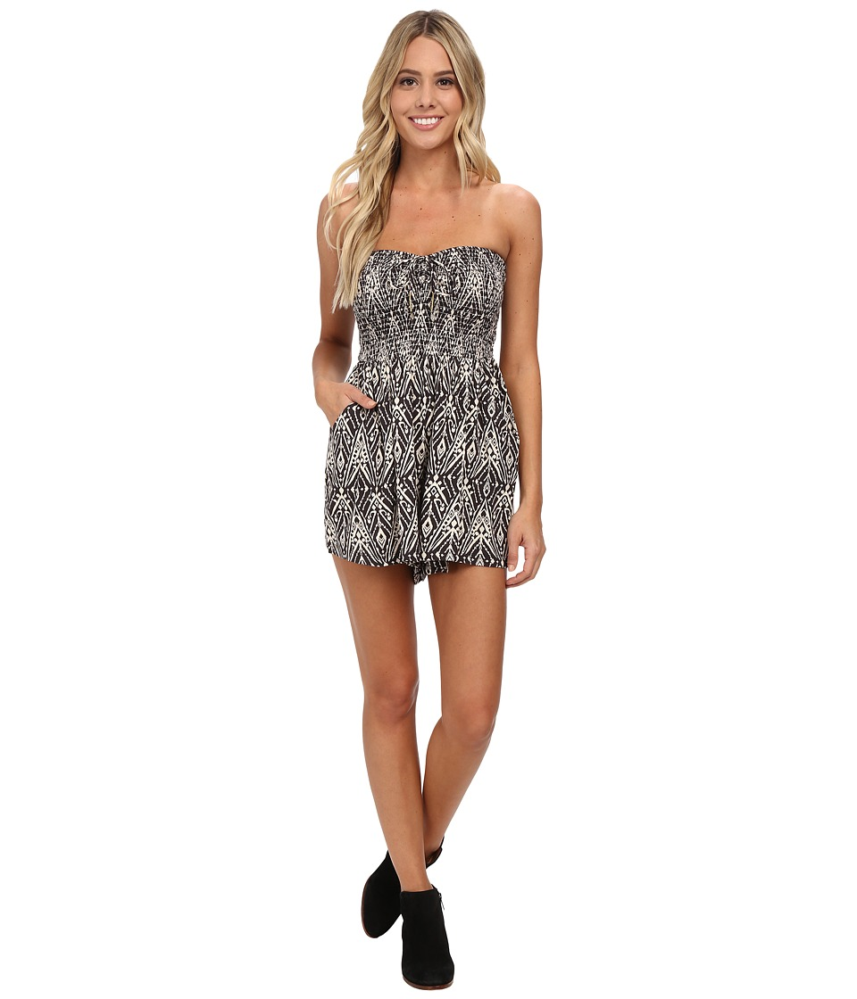 Billabong - Just Pretend Romper (Black/White) Women's Jumpsuit & Rompers One Piece