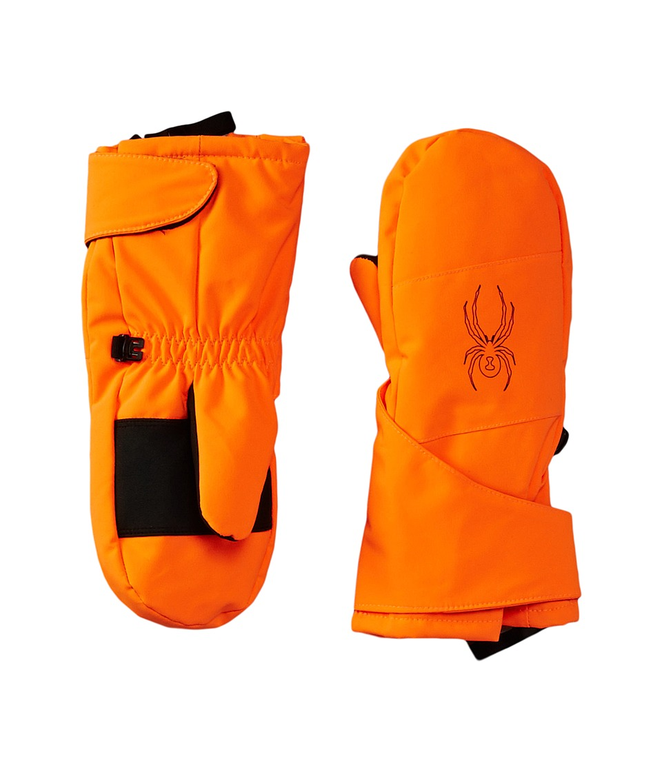 Spyder Kids - Mini Cubby Ski Mitten (Toddler/Little Kids/Big Kids) (Bryte Orange/Black) Ski Gloves