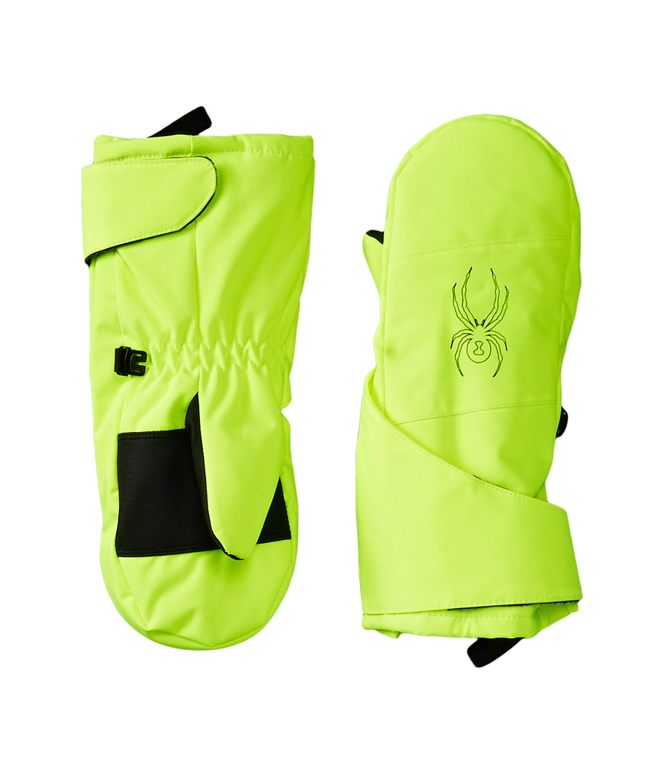 Spyder Kids - Mini Cubby Ski Mitten (Toddler/Little Kids/Big Kids) (Bryte Yellow/Black) Ski Gloves