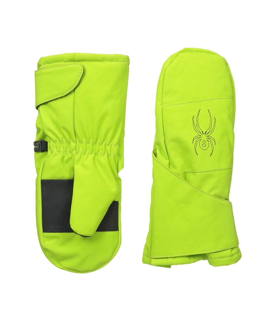 Spyder Kids - Mini Cubby Ski Mitten (Toddler/Little Kids/Big Kids) (Theory Green/Black) Ski Gloves