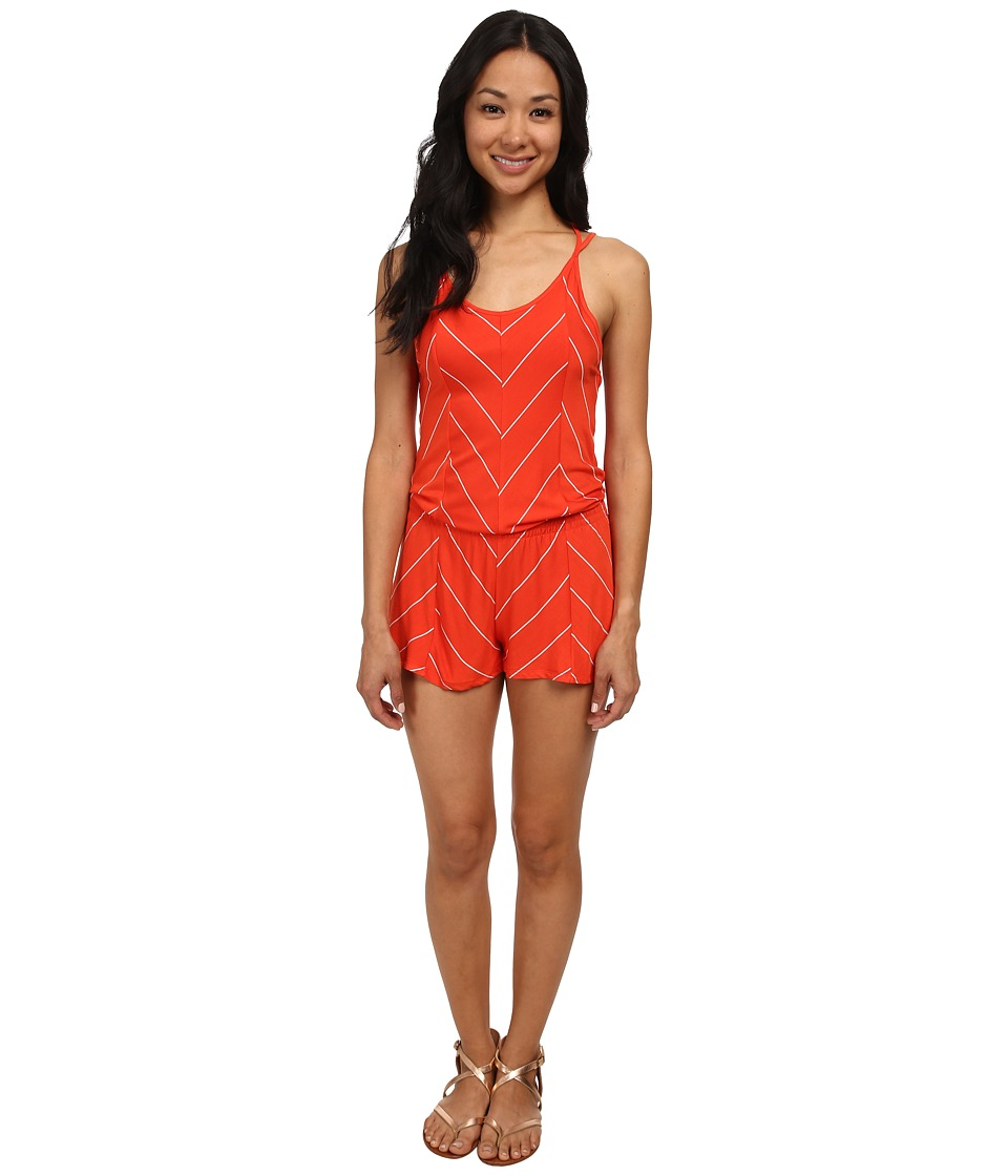 Rip Curl - Borderline Romper (Red) Women's Jumpsuit & Rompers One Piece